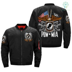 POW MIA, ALL GAVE SOME, SOME GAVE ALL OVER PRINT JACKET %tag familyloves.com