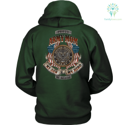 PROUD ARMY MOM, U.S ARMY, MY SON MY HERO MY SOLDIER GILDAN HOODIE %tag familyloves.com