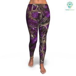 Purple Hunting all-over print leggings %tag familyloves.com