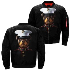 familyloves.com Rottweiler Shirt over print jacket %tag