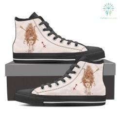 Sagittarius White High Shoes %tag familyloves.com