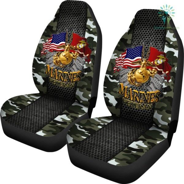 Semper Fidelis United States Marines Veteran Car Seat