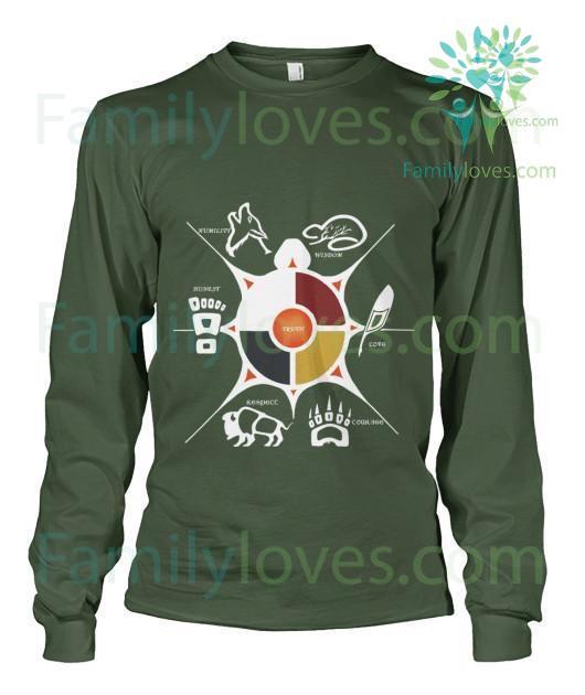 familyloves.com Seven Sacred Grandfather Teaching Tshirt %tag