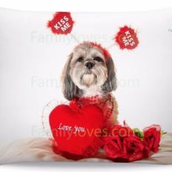 familyloves.com Shih tzu Pillow %tag