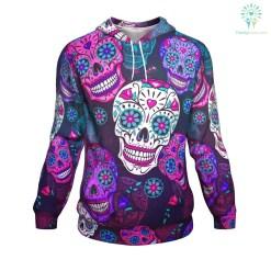 familyloves.com Sugar Skull ugly christmas hoodie %tag
