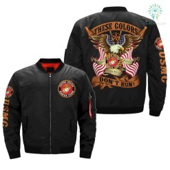 THESE COLORS DON'T RUN MARINES OVER PRINT JACKET %tag familyloves.com