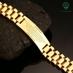 familyloves.com To My Son Don't Ever Let Someone Tell You That You Can't Do Something...From Dad -men bracelets %tag
