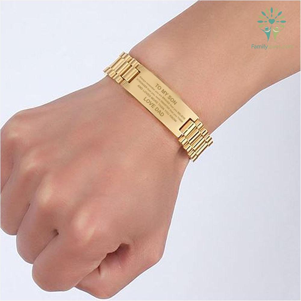 To My Son Always Remember You Are Braver... men bracelets %tag familyloves.com