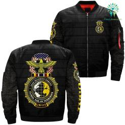 U.S. AF security forces global war on terrorism gwot over print jacket %tag familyloves.com