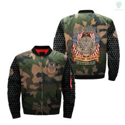 U.S.ARMY ALL GAVE SOME SOME GAVE ALL VETERAN over print Bomber jacket %tag familyloves.com