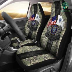 familyloves.com U.S Coast Guard Retired Car Seat Covers %tag