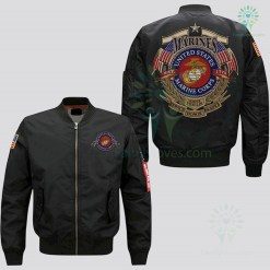 familyloves.com U.S MARINE EMBROIDERED JACKET, EST 1775, SEMPER FIDELIS SERVICE HONOR SACRIFICE %tag