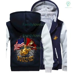 familyloves.com U.S MARINES SEMPER FIDELIS HOODIE %tag