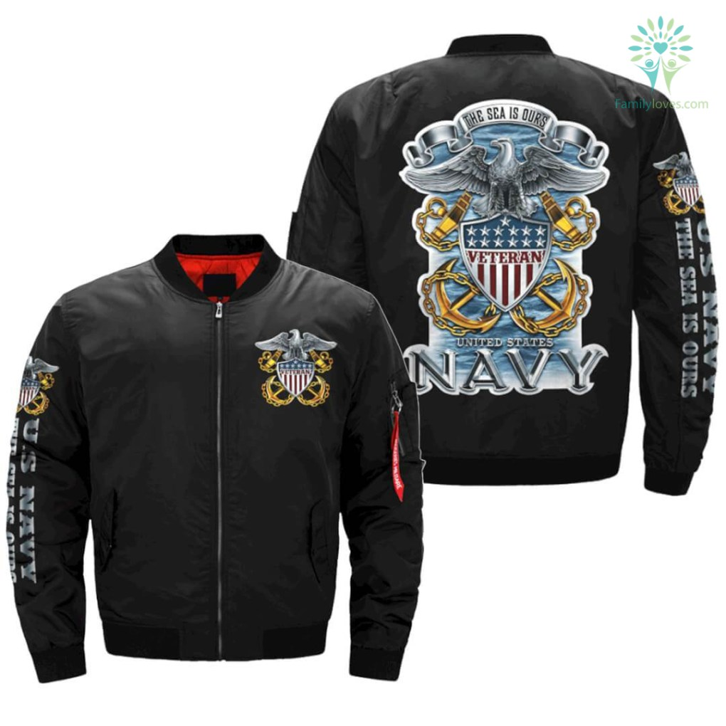 U.S Navy Veteran - The Sea Is Ours jacket v2.0 OVER PRINT JACKET %tag familyloves.com