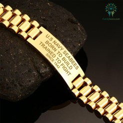 U.S Navy Seabees Born To Build Trained To Fight Since 1942 men's bracelets %tag familyloves.com