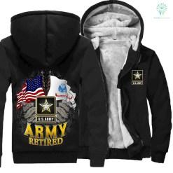 US ARMY RETIRED HOODIE %tag familyloves.com