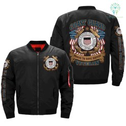 familyloves.com US Coast Guard Proud To Have Served Veteran OVER PRINT jacket %tag