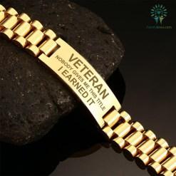 Veteran nobody gives me this title i earned it u.s veteran men's bracelets Default Title %tag familyloves.com