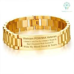 familyloves.com Vietnam POW/MIA veteran I didn't ask for it... men's bracelets Default Title %tag