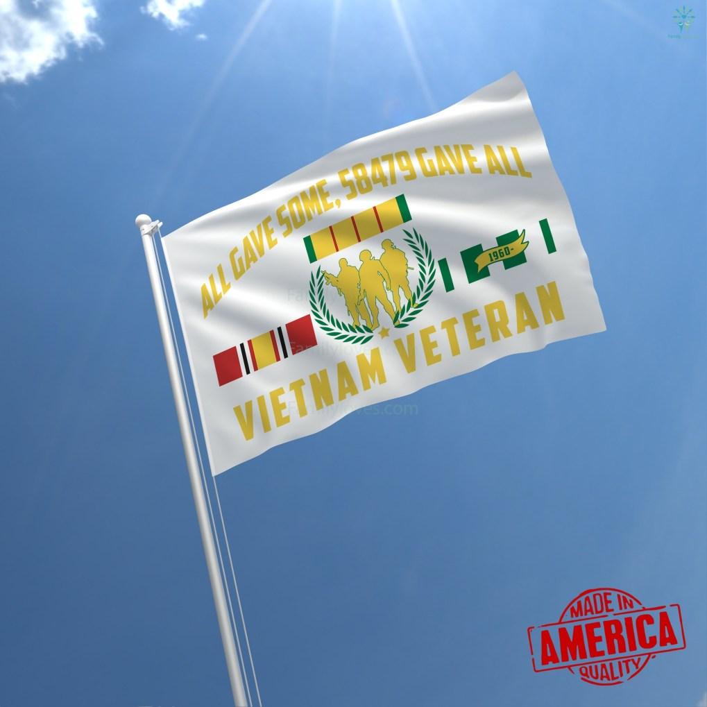 familyloves.com VIETNAM VETERAN, ALL GAVE SOME, 58479 GAVE ALL - WALL FLAG %tag