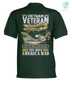 Vietnam veteran we found without america's polo shirt %tag familyloves.com