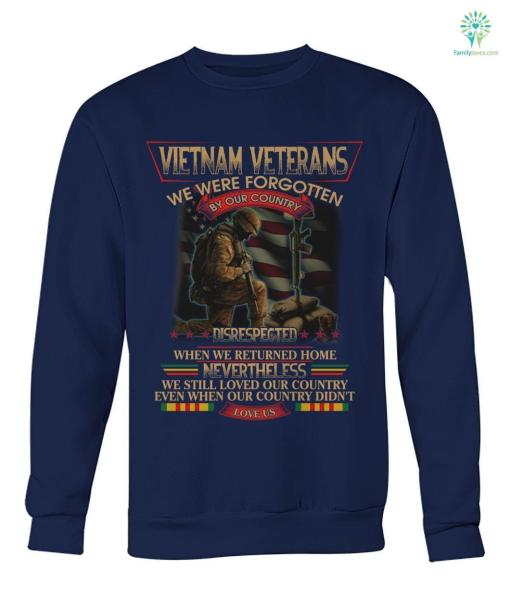 Vietnam Veterans We Were Forgotten By Our Country Disrespected When We Returned Hoodie, Sweatshirt, T-shirt %tag familyloves.com