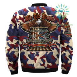 familyloves.com WE THE PEOPLE NOT YOU THE ESTABLISHMENT OVER PRINT BOMBER JACKET %tag