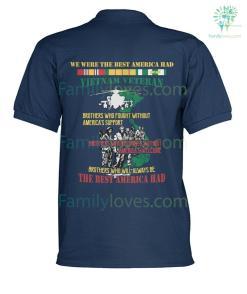familyloves.com WE WERE THE BEST AMERICA HAD- Vietnam Veterans of America - Men's Polo SHIRT %tag