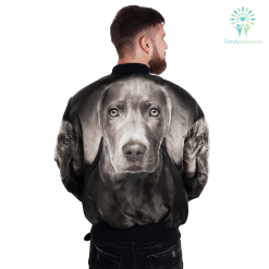 familyloves.com Weimaraner over print jacket %tag