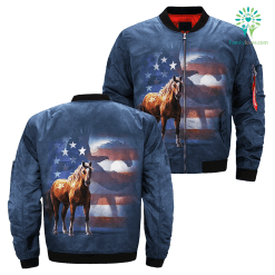 Wild Star Flag over print jacket %tag familyloves.com
