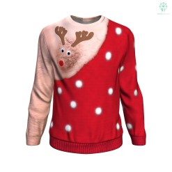 Xmas Funny Deer UGLY CHRISTMAS SWEATER %tag familyloves.com