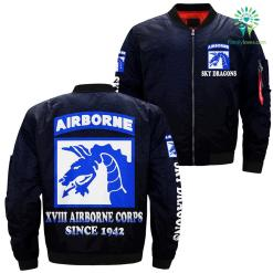 XVIII airborne corps since 1942 over Print jacket %tag familyloves.com
