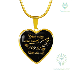 Yours wings were readly but my heart was not - Luxury adjustable Necklace & Bangle (Engraving variants) Luxury Bangle (Gold) Luxury Bangle (Silver) Luxury Necklace (Gold) Luxury Necklace (Silver) %tag familyloves.com