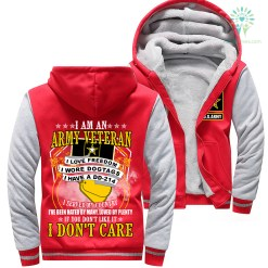 familyloves.com I Am An Army Veteran I Love Freedom I Wore Dogtags I Have A DD-214 Veteran Woman Hoodie %tag