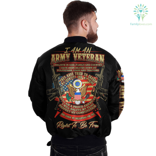 I Am An Army veteran... Over Print Jacket %tag familyloves.com