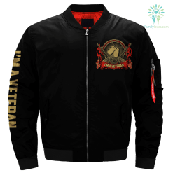 I Am A Veteran Like My Father Before Me Over Print Jacket %tag familyloves.com