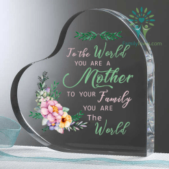 To the world you are a mother 2... Heart Keepsake %tag familyloves.com