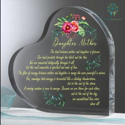 familyloves.com Daughter And Mother The Bond between mother and daughter Heart Keepsake %tag