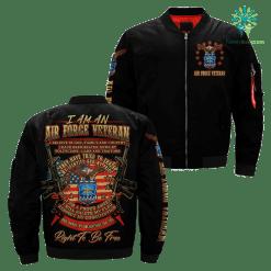 I Am An Air force Veteran... Over Print Jacket %tag familyloves.com