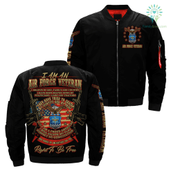 familyloves.com I Am An Air force Veteran... Over Print Jacket %tag