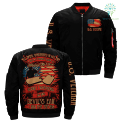 The devil whispered in my ear… I am the storm Veteran Over Print Jacket %tag familyloves.com