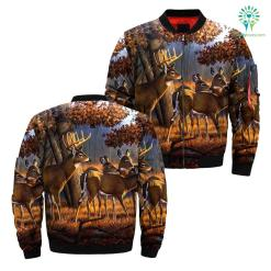 Deer hunting art over print jacket %tag familyloves.com
