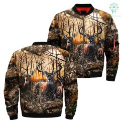 familyloves.com 3D All Over Printed deer hunting in Camo jacket %tag