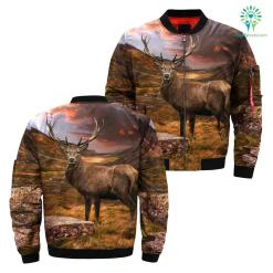 Deer hunting camo all over print jacket %tag familyloves.com