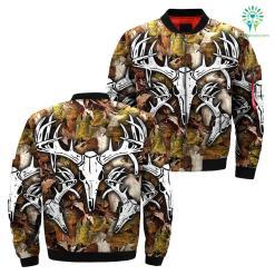 familyloves.com Deer skull hunting over print jacket %tag