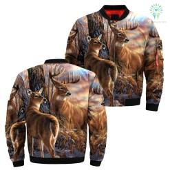 Deer tree camo over print jacket %tag familyloves.com