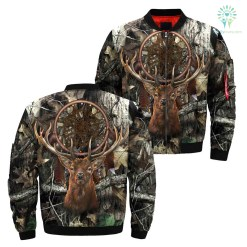 familyloves.com Dream Catcher Deer Tree Camo Over Print Jacket %tag
