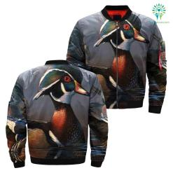 DUCK HUNTING OVER PRINT JACKET %tag familyloves.com