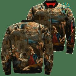 Jesus Christ The Main Shepherds Over Print Jacket %tag familyloves.com