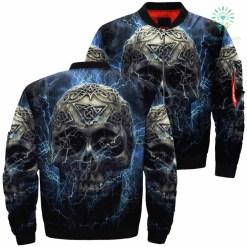 Thunder Skull Over Print Jacket %tag familyloves.com